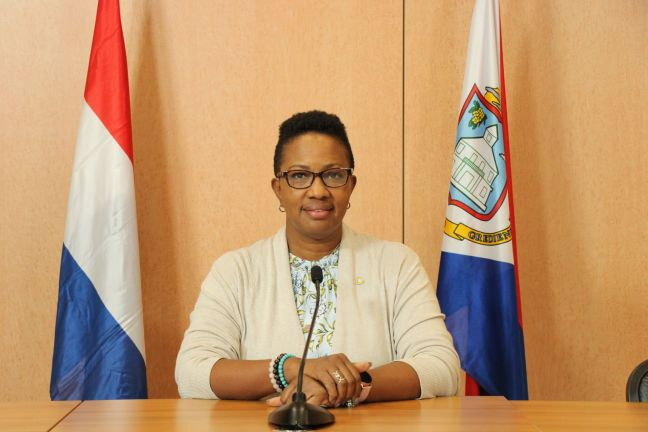 Prime Minister/Chair of the EOC Silveria Jacobs