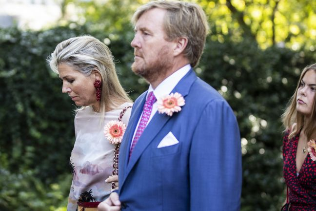 King Willem-Alexander and queen Maxima in the funeral procession. Photo: Laurens van Putten / HH