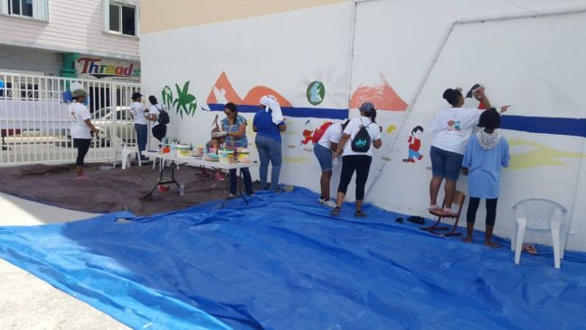 File photo of a SXM DOET project with volunteers hard at work.