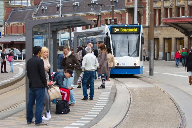 Dozens of tram stops are being removed in Amsterdam. Photo: Depositphotos