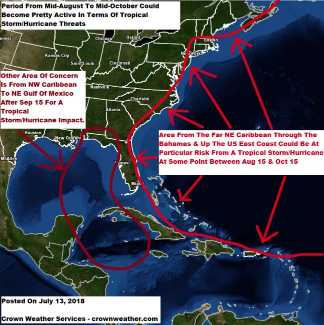 "Atlantic Basin expected to ""wake up"" between August 5-18"