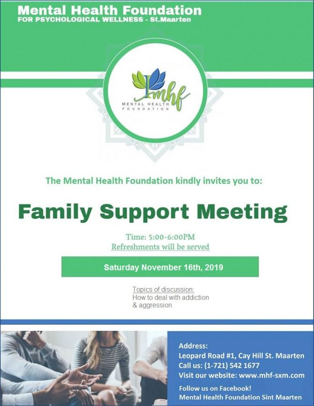 MHF organizes Family Support Meeting for Saturday