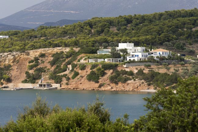 The royals' holiday villa in Greece. Photo: Leo Vogelzang VOF