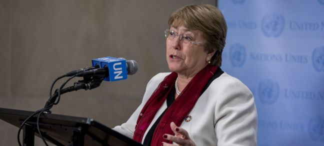 UN Photo/Laura Jarriel United Nations High Commissioner for Human Rights Michelle Bachelet (file).