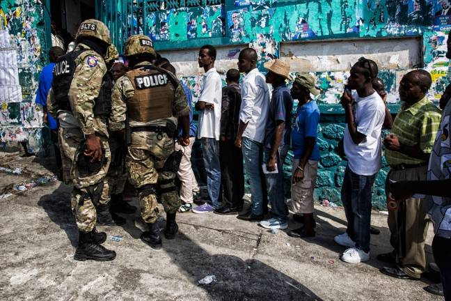 Haitians voted in the second round of the senatorial and parliamentary elections and the first round for their new president, in Haiti's capital Port au Prince on 25 October 2015. Photo: UN/MINUSTAH/Logan Abassi