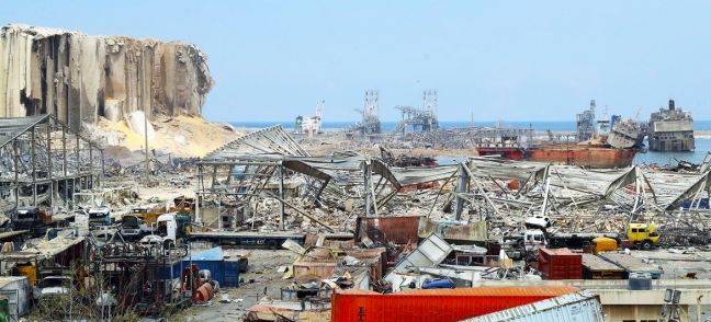 © UNOCHA Beirut Port after an explosion on 4 August 2020.