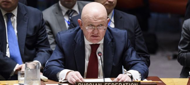 UN Photo/Manuel Elias Vassily Nebenzia, Permanent Representative of the Russian Federation to the UN, addresses Security Council on the situation in the Middle East