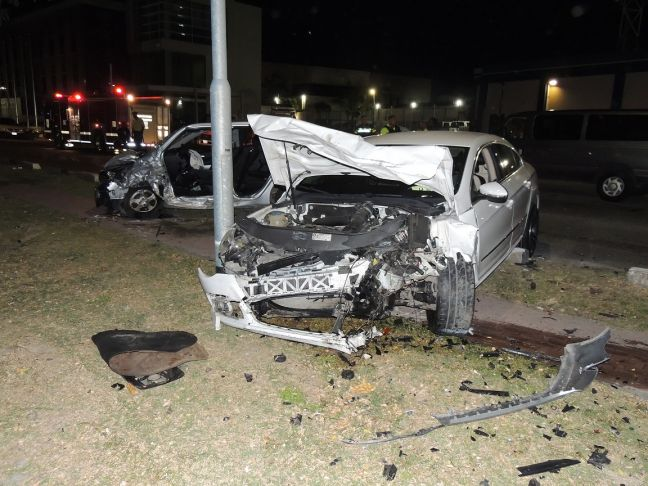 Police photo of Saturday night accident scene.