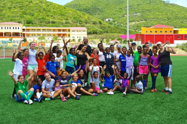 """25 girls Complete Successful Oualichi Girls Summer Soccer Camp"""