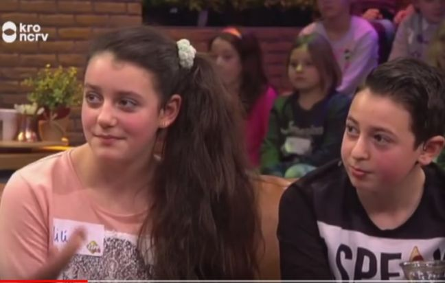 Lili and Howick on Dutch children's television.