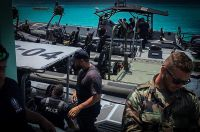 Officers in Aruba prepare to carry out coastal operations.