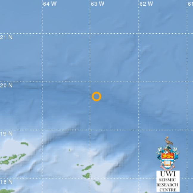 4.6 Earthquake occurs on Friday North of Anguilla and Sint Maarten/St. Martin