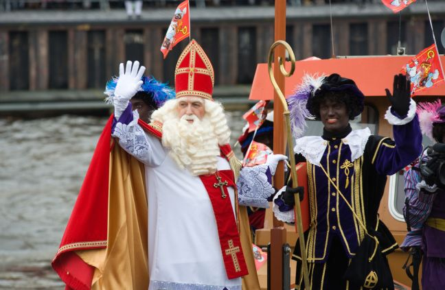 Sinterklaas arriving by boat. Photo: Depositphotos