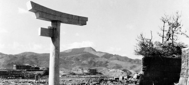 UN Photo/Shigeo Hayashi Ruins of Nagasaki about 800 metres from the hypocenter in mid-October 1945.