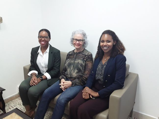 SMDF Director Ms. Makhicia Brooks, MHF Interim Director Ms. Eileen Healy, SMDF Programme and Development Manager Ms. Melanie Choisy, MHF Executive assistant Cyrille Brooks (not pictured).