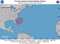 The five-day forecast of the NHC on Tuesday gave the system a 70 per chance for development at the end of the aforementioned forecast period.