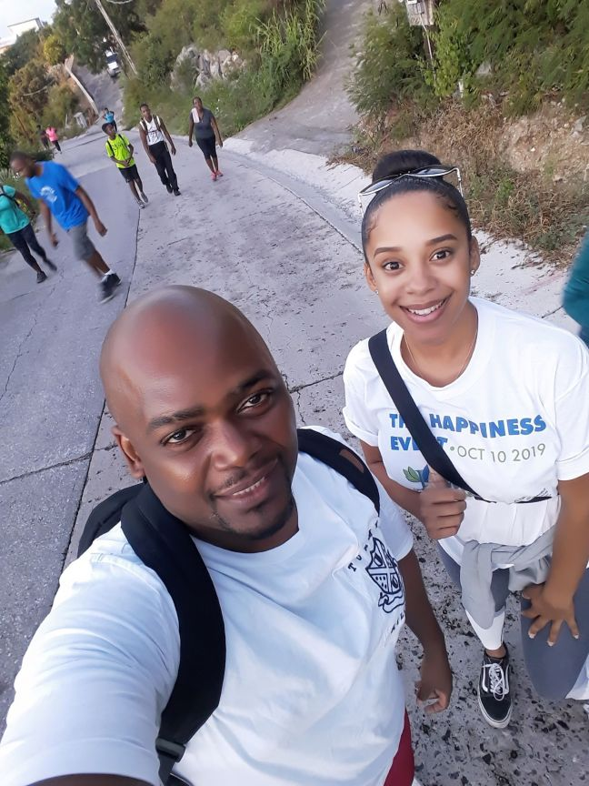 Hike for Mental Health' organizers Ryane Bowers (R) and Cyrille Brooks (L).