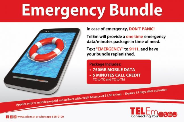 TelEm Group says its TelCell prepaid Mobile customers can now call on their own reserved bank of credit should an emergency situation strike.