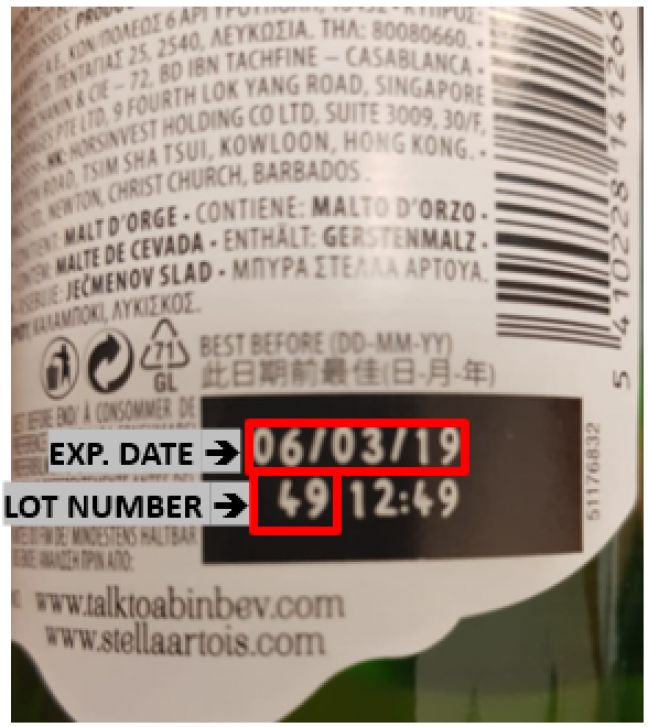 Inspectorate: Voluntary Partial Recall of 11.2-ounce Bottles of Stella Artois Beer