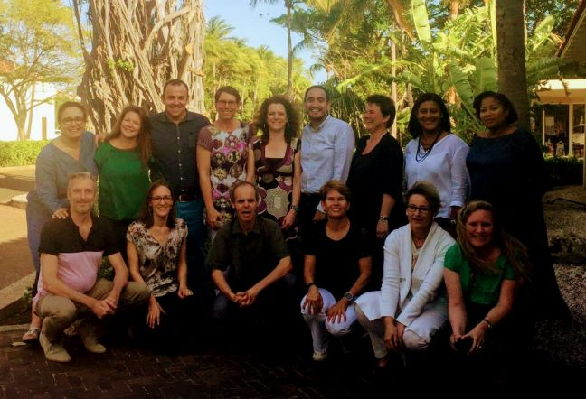 All SFC coordinators, including local Project Coordinator Fleur Hermanides, attending policy plan seminar in Curacao this past week (photo taken March 14th, 2018).
