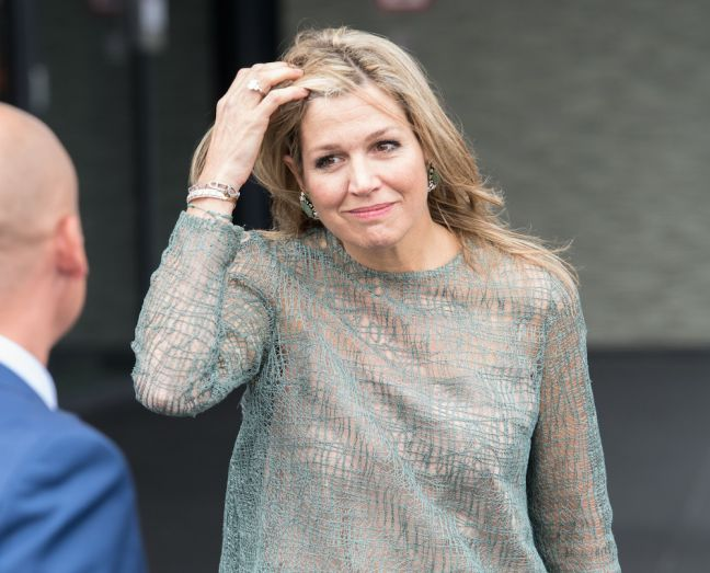 Queen Maxima makes her first public appearance in two weeks. Photo: Dana Press Photo via HH
