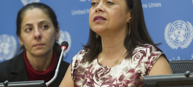 UN Photo/Loey Felipe María Soledad Cisternas Reyes, Chairperson of the UN Committee on the Rights of Persons with Disabilities (CRPD), was appointed the Secretary-General's chief's Special Envoy on Disability and Accessibility.