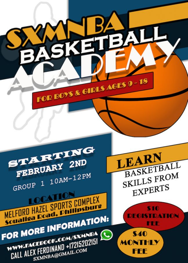 SXMNBA Basketball Academy to start March 2. Register today