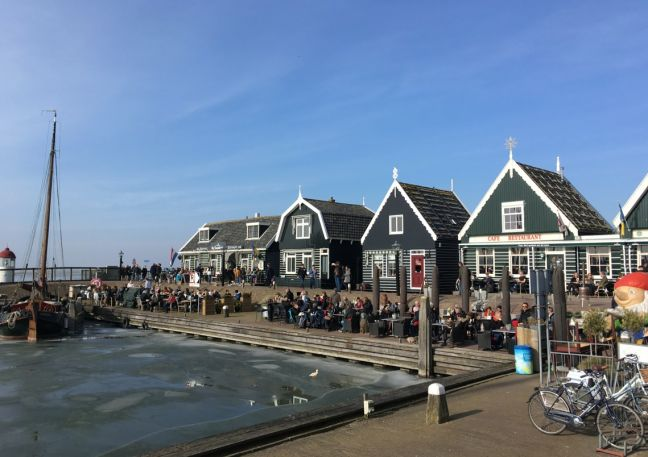 The harbour front in Marken. Photo: DutchNews