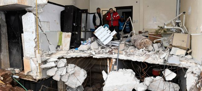 UNOCHA A destroyed health centre in east Aleppo, Syria.