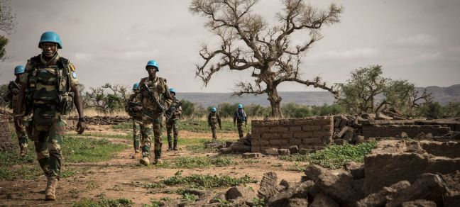 MINUSMA/Gema Cortes UN peacekeepers in the Mopti region of central Mali during a military operation.