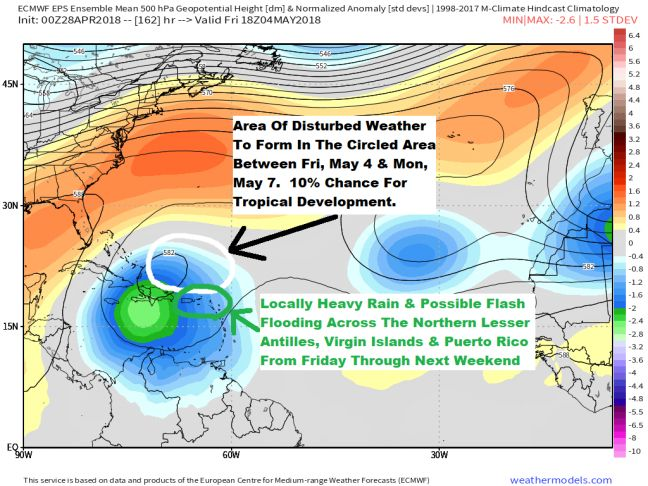 Possible Flash Floods for Northern Leeward Islands