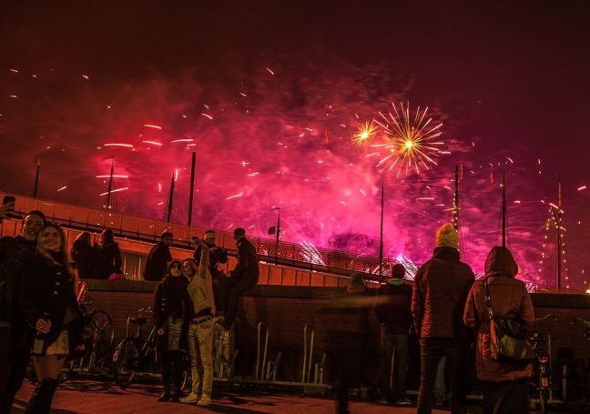 New Year fireworks in Amsterdam. Photo: Depositphotos