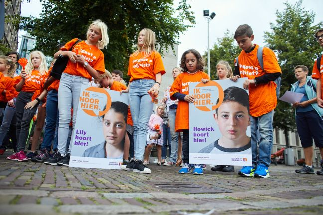 School friends campaign outside parliament in support of Lily and Howick. Photo: Phil Nijhuis