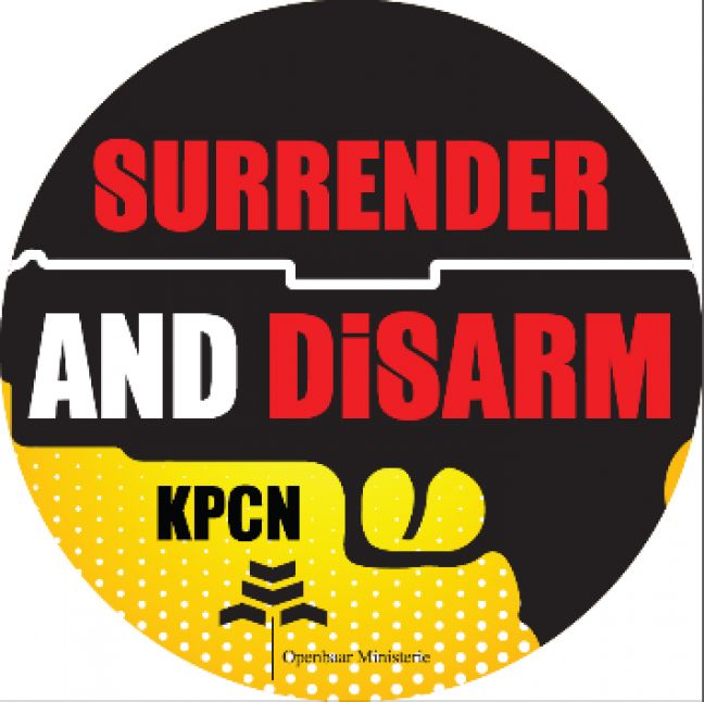 "Start of campaign ""Surrender and disarm"""