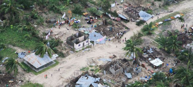 OCHA/Saviano Abreu Macomia district, in Cabo Delgado, Mozambique, has been hard-hit by Cyclone Kenneth, which made landfall on 25 April.