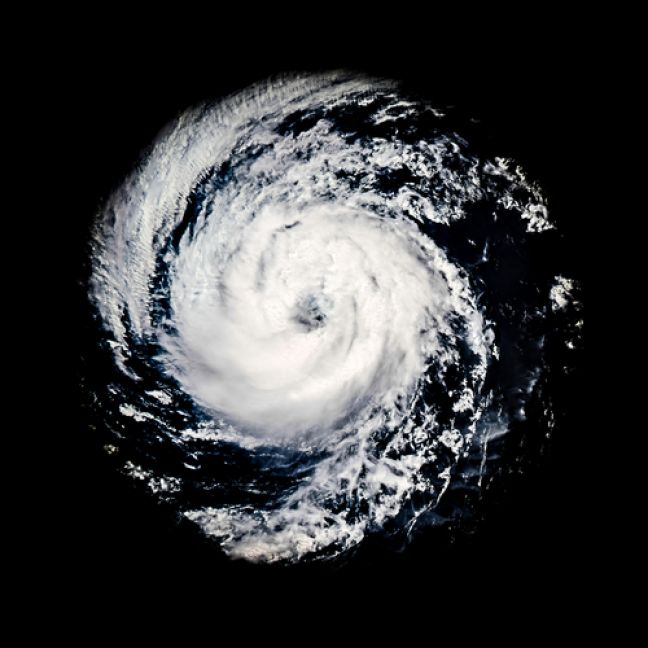Satellite photo of a hurricane. (Copyright ModeList Shutterstock)