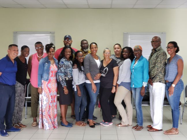 Some participants with Facilitator Rusty Binas and SMDF Financial Administrator Jennai Marlin and Program and Development Manager Makhicia Brooks.