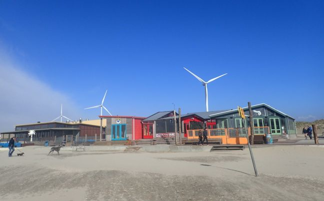 Wind turbines close to the beach at Velsen Noord. Photo: DutchNews