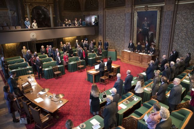 First Chamber of the Dutch Parliament. (File photo)