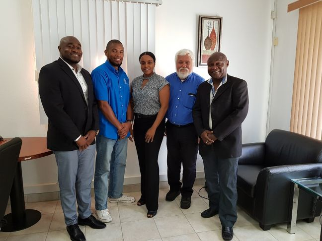Left to right: Mr. Conrad Richardson, Mr. Kenneth Serrant, Ms. Nina Diaz, Mr. Louis Wever (Vice Chairman) and Mr. Bienvenido Richardson (Chairman).