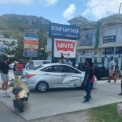 Scooter rider injured on the Welfare road Friday afternoon