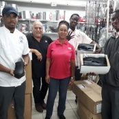 PDG donates work shoes to three Sundial Hospitality students who will participate in SKILLS Finals