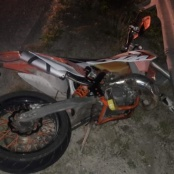 Speeding and under the influence leaves motor bike rider with serious injuries