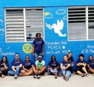 Rotary Sunset Paint Peace Murals at Local High Schools