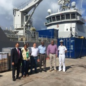Students of GvP School on St. Eustatius visit HNLMS Pelikaan. Not in Port for Military Intervention