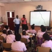 Police Officers give presentation on bullying at the SDA
