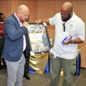 VROMI Ministry surprises Minister Giterson with farewell and pre-birthday gift