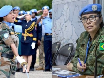 Women peacekeepers from Brazil and India share UN military gender award