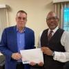 SZV congratulates Reginald Willemsberg for 40 years of service