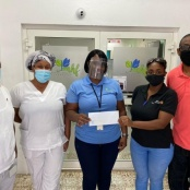 Rotary Club of St. Martin Sunset Donates to Nurses at MHF